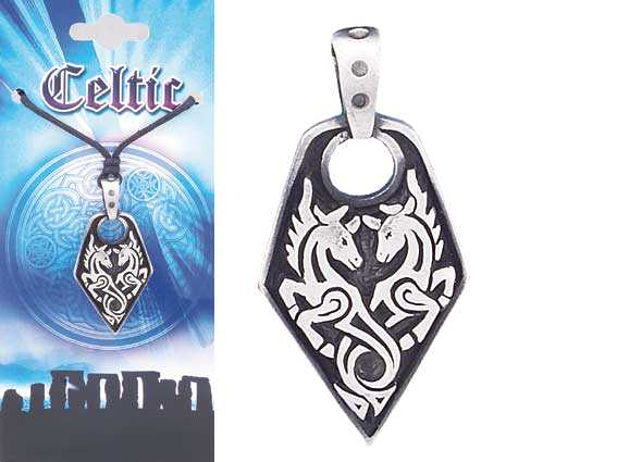 CELTIC Unicorn Pewter Pendant